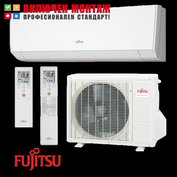 Инверторен климатик Fujitsu ASYG09LMCA / AOYG09LMCA, 9000 BTU, клас A++