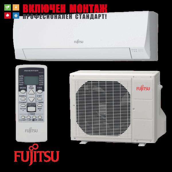 Инверторен климатик Fujitsu ASYG12LLCE / AOYG12LLCE, 12000 BTU, клас A++