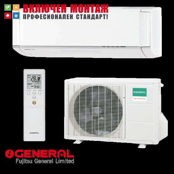 Хиперинверторен климатик Fujitsu General NocriaX ASHG12KXCA / AOHG12KXCA, 12000 BTU, клас A+++