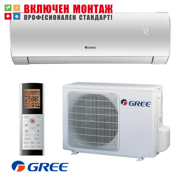 Инверторен климатик Gree Fairy GWH09ACC / K6DNA1A WIFI, 9000 BTU, клас A++
