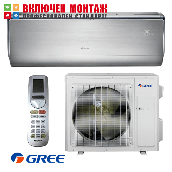 Хиперинверторен климатик Gree U-Crown GWH12UB / K3DNA4F, 12000 BTU, клас A+++