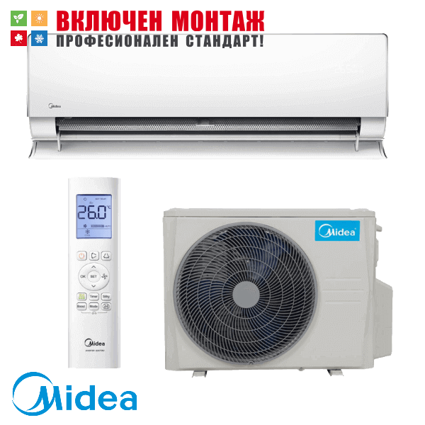 Хиперинверторен климатик Midea MT-09N8D6 / MBT-09N8D6 Ultimate Comfort, 9000 BTU, клас А+++