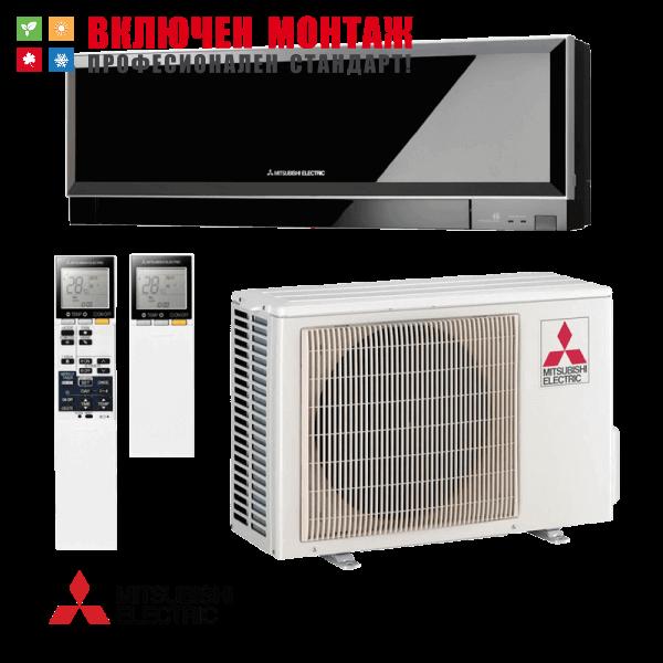 Инверторен климатик Mitsubishi Electric Kirigamine Zen MSZ-EF25VE2B / MUZ-EF25VE, 9000 BTU, клас A+++