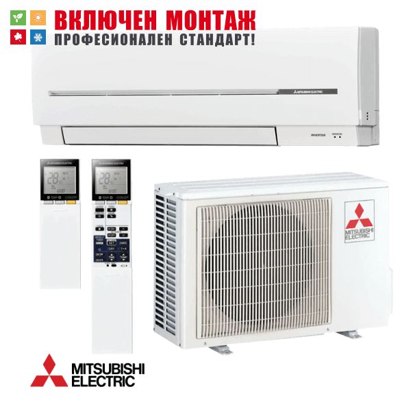 Инверторен климатик Mitsubishi Electric MSZ-SF35VE / MUZ-SF35VE, 12000 BTU, клас A++