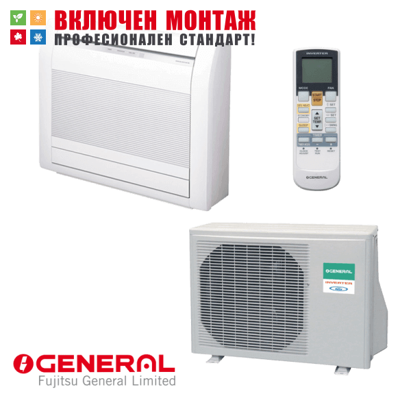 Подов климатик Fujitsu General AGHG14LVCA / AOHG14LVLA, 14000 BTU, клас А++